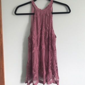 Lacy purple tank from Altar'd state.